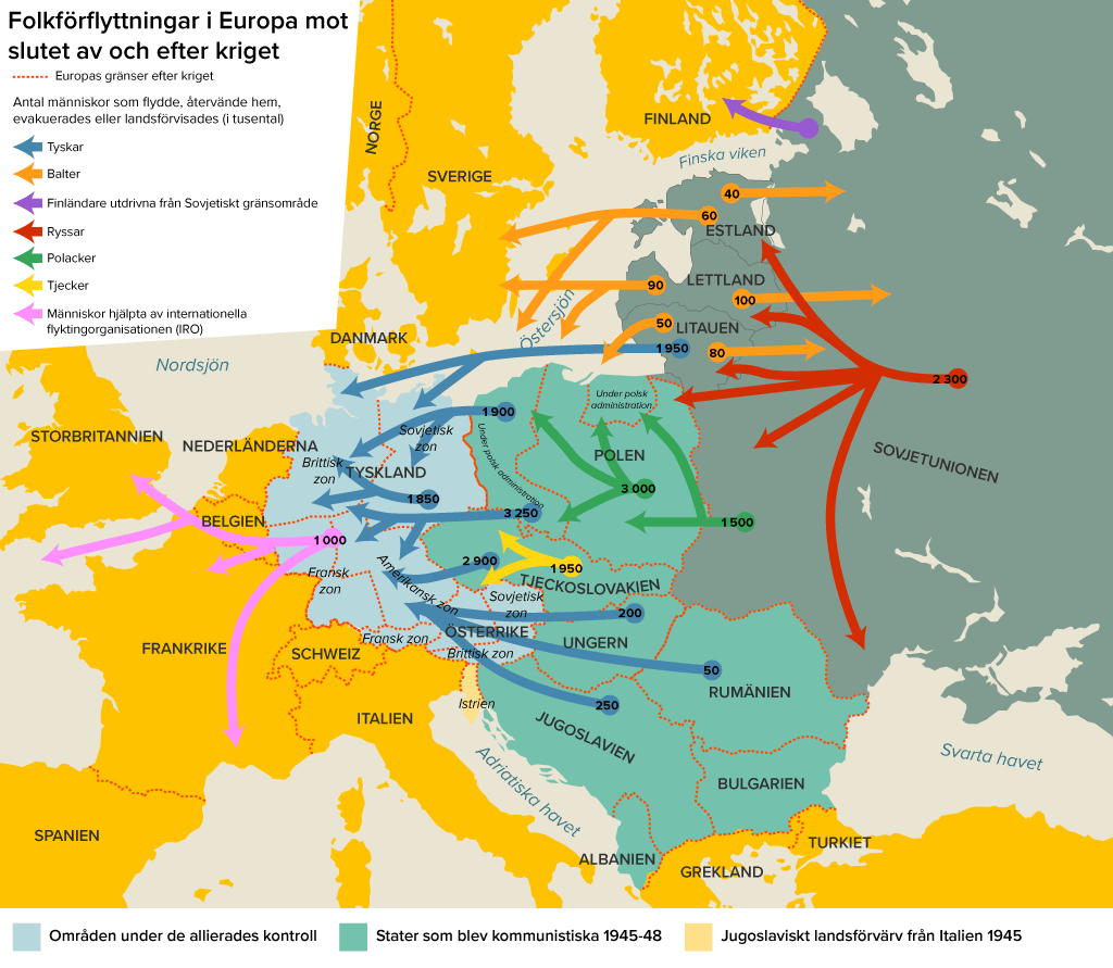 Karta Europa Andra Varldskriget.Krigets Foljder Laromedel Till Lektion I Historia Ak 7 8 9
